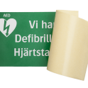 Vi har defibrillator/hjärtstartare A4