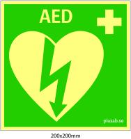 AED Hjärtstartare 200x200 mm