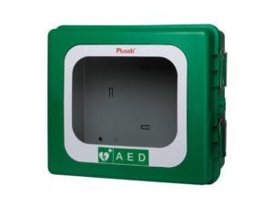 Defibrillator skåp med värme